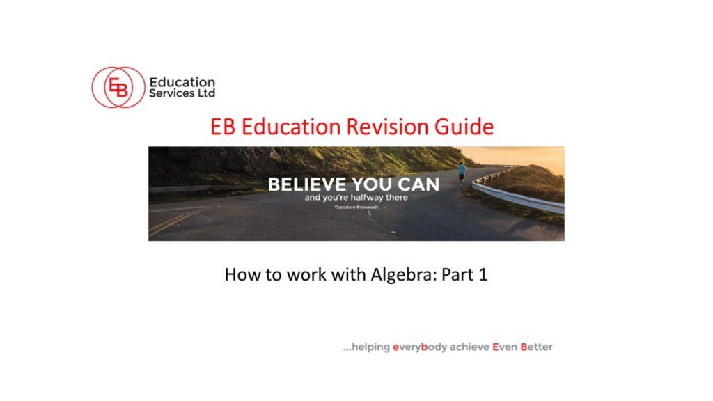 How to work with Algebra
