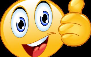 Smiley thumbs up emoji