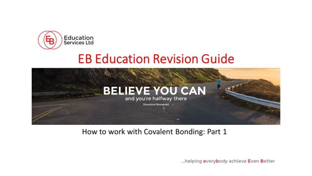 How to work with covalent bonding part 1