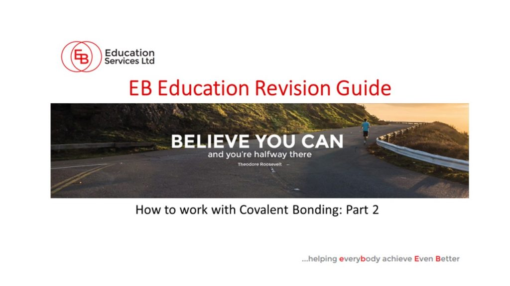 How to work with covalent bonding part 2