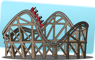 Picture of roller coaster