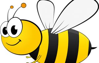 Honey bee cartoon