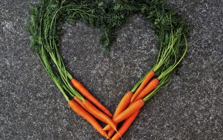 Heart made with carrots
